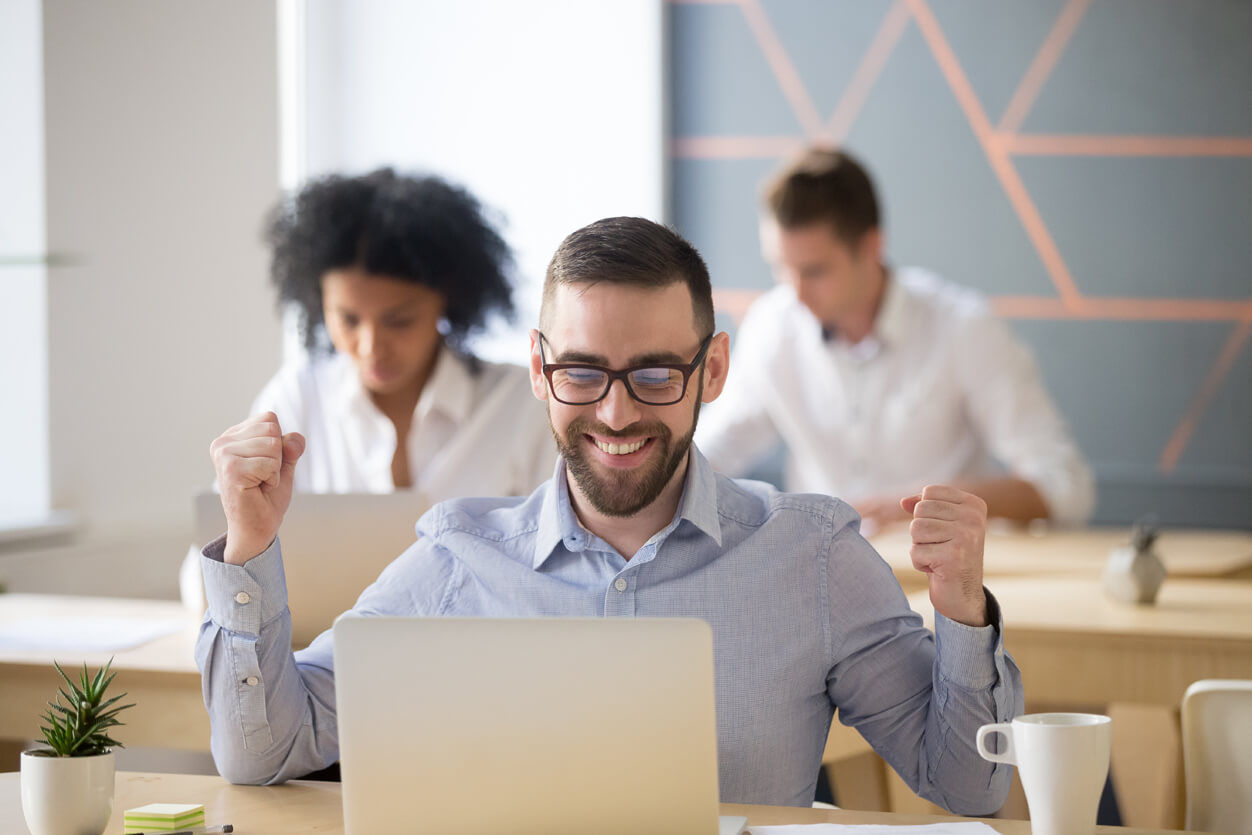 Happy client gets hired for new job using Austin Staffing.